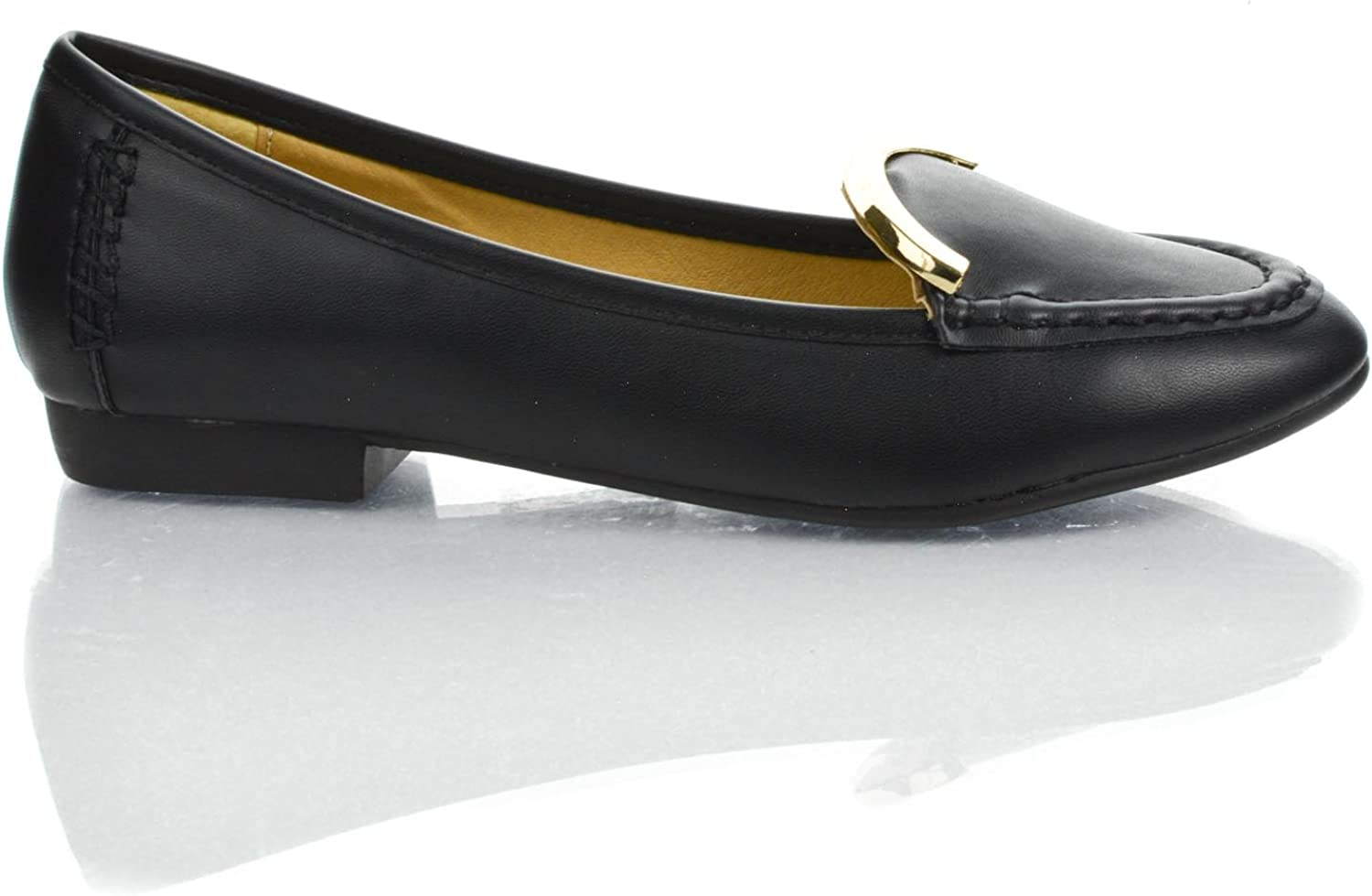 Sully's Almond Toe Metal Plated Collar Max 61% OFF On Slip Low Loafers Heel Super beauty product restock quality top