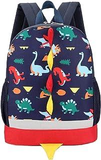 Mochila para niños con dinosaurio, mochila para niños y niñas de 2 a 5 niños