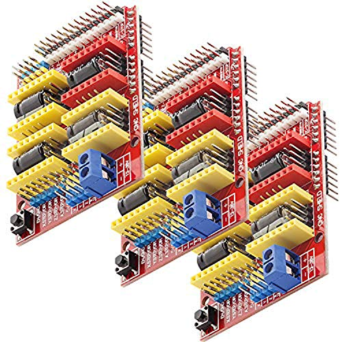 AZDelivery 3 x CNC Shield V3 Placa de Desarrollo para Motor Paso a Paso A4988 Controlador Stepper para impresoras 3D para Arduino UNO R3