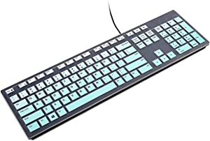 Silicone for Dell KB216 Keyboard Cover Skin, Keyboard Protector for Dell KM636 Wired Keyboard, Compatible with Dell Inspiron AIO 3475/3670/3477/ Optiplex 5250/3050/3240/5460/7450/7050(Mint)