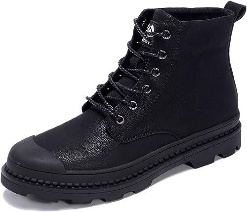 Herrenschuhe Feifei Herren Herren Herren Freizeitschuhe Winter Warm Warm Rutschfest Hoch Hilf Martin Stiefel (Farbe   Schwarz Größe   EU42 UK8.5 CN43)  verkaufen sich wie warme Semmeln
