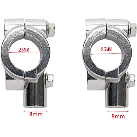 weiß vanpower 225mm Motorrad Lenker Metall Rückspiegel Halterung Halter