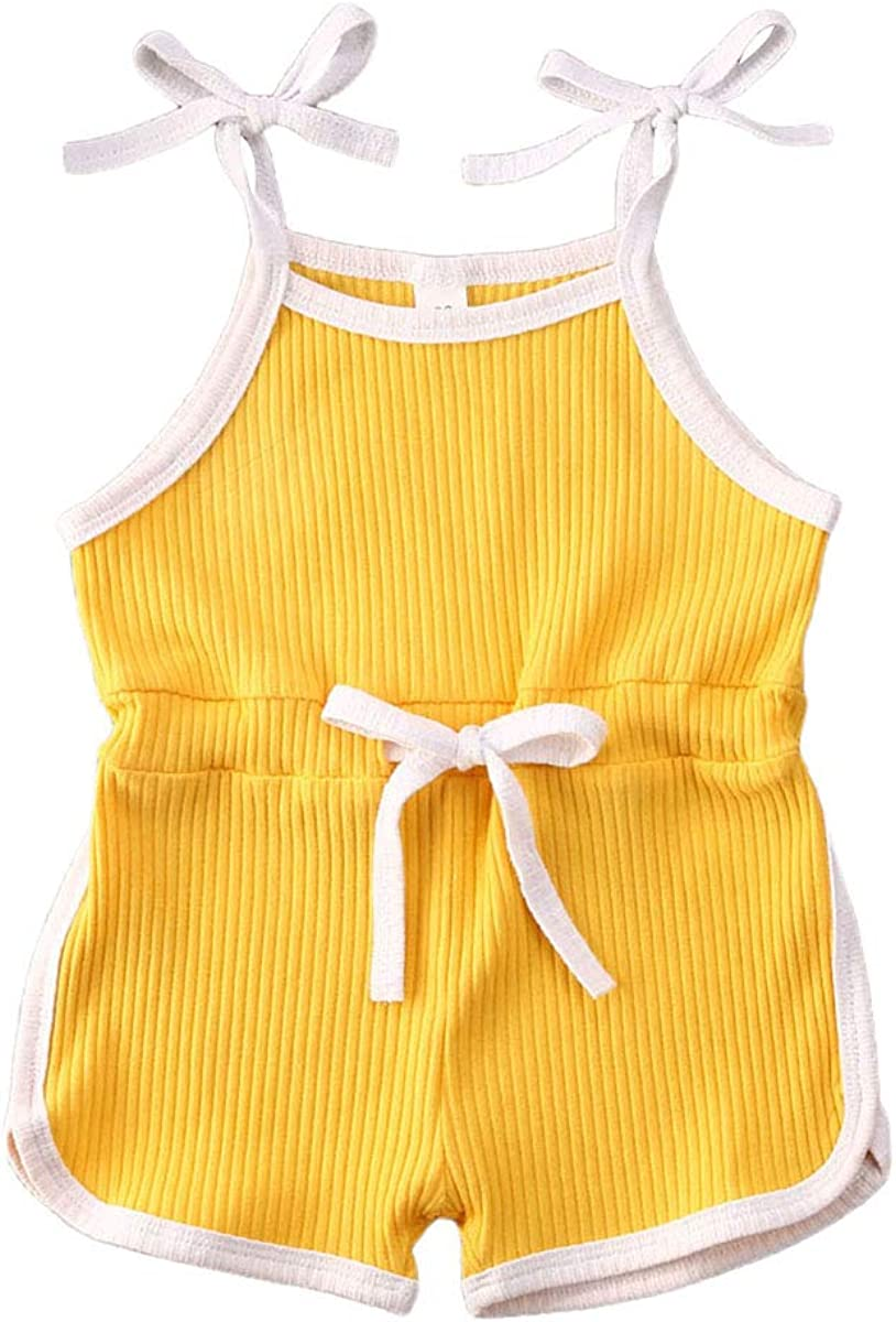 CIYCUIT Toddler Baby Cheap bargain Fashion Girl Summer Romper Sleeveless Clothes Strap