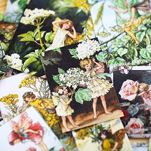 Bloem Fairy Spirit Angel Baby Alice Elf Materiaal Papier Scrapbooking Diy Projecten/foto Album/kaart Maken Ambachten Sticker 33 stks