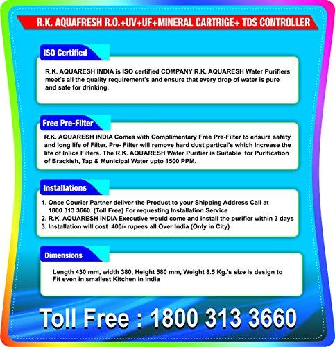 R.K. AQUA FRESH INDIA K200 Ultraviolet, Reverse Osmosis Water Purifier - 10L, 1 Pc