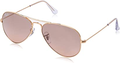 Ray-Ban RB3025 Aviator Sunglasses, Gold/Pink Mirror Gradient, 55 mm