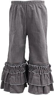 Wennikids Infant Toddler Baby-Girls Corduroy Fancy Ruffle Flare Pants 1-6T