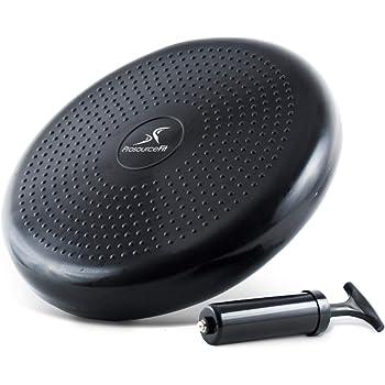 ProSource Core - Disco de Equilibrio con Bomba DE 35,5 cm de diámetro para Mejorar la posición, Fitness, Estabilidad
