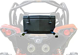 SuperATV Heavy Duty Rear Insulated Cooler/Cargo Box for Can-Am Maverick/MAX (2013+) - Sealed Lid Keeps Ice In & Mud Out!