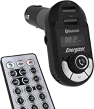 Premier Energizer Bluetooth FM Transmitter For Car Universal Audio Adapter Wireless Hands-Free Calling MP3 Charger USB