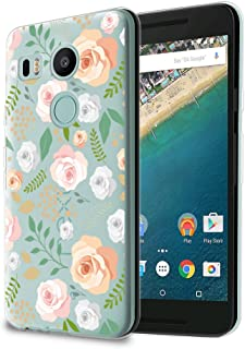 HelloGiftify Nexus 5X Case, Floral Pattern TPU Soft Gel Protective Case for Nexus 5X