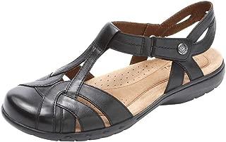 ROCKPORT Women's Ch Penfield Tsandal Shoes, 7.5 B(M) US, Black Lthr