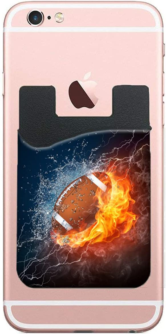 ZXZNC Card Holder Ranking TOP8 Max 78% OFF for Back of Fire Football American Phone Ball