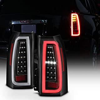 ACANII - For 2015-2019 GMC Yukon/Yukon XL Black Housing Full LED Light Tube Tail Lights Brake Lamps Driver & Passenger