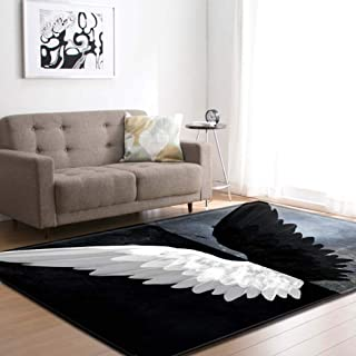 Lee My Angel Wings Area Rugs Non-Slip Carpet Floor Mat Door Mats Home Runner Rug for Bedroom Indoor Outdoor Nursery Rugs Yoga Mat Kids Play Mat Multicolor,C,80x50inch/6.6ftx4.1ft