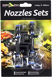 REPTI ZOO 4 Pieces Spray Nozzles Adjustable Fine Misting Water for Reptiles