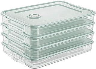 Réfrigérateur Alimentaire Porte-dumpling Boîte De Rangement Case Alimentaire Organisateur Plateau Container Simple Couche ...