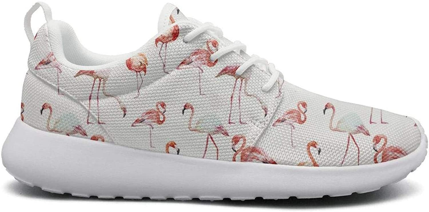 Gjsonmv Watercolor Flamingos mesh Lightweight shoes for Women Summer Sports Athletic Sneakers shoes