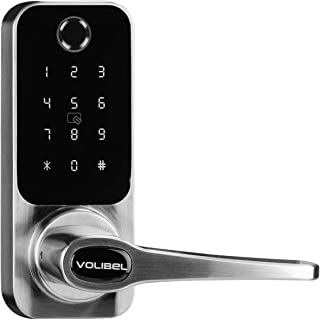 VOLIBeL A32B Security Smart Door Lock Touch, Bluetooth Keyless Smart Door Lock, 5-in-1 with App, Fingerprint,Codes, RFID Card and Key (Batteries not Included)