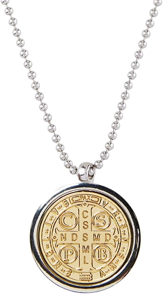 Saint Benedict Limited price sale Necklace Cross Locket Choice Inch 30 with Chain