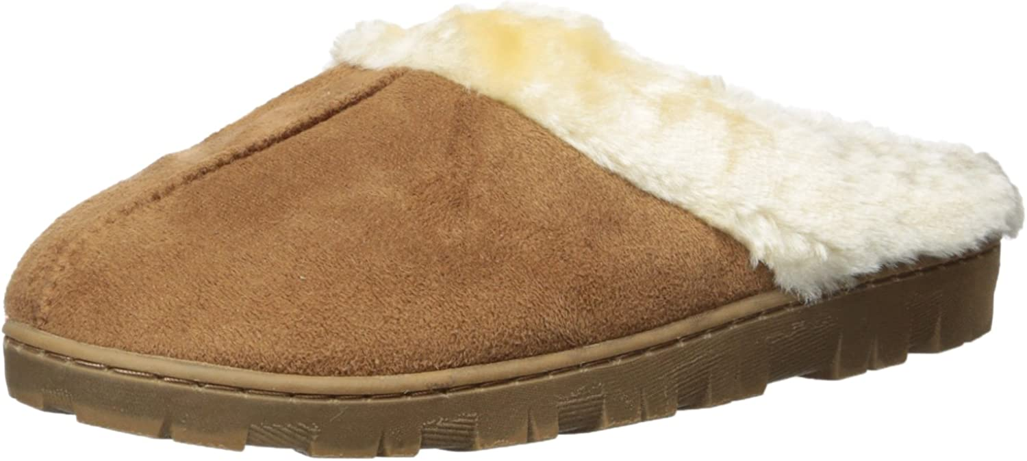 Best House Slippers Womens Faux Shearling Indoor Outdoor Slippers