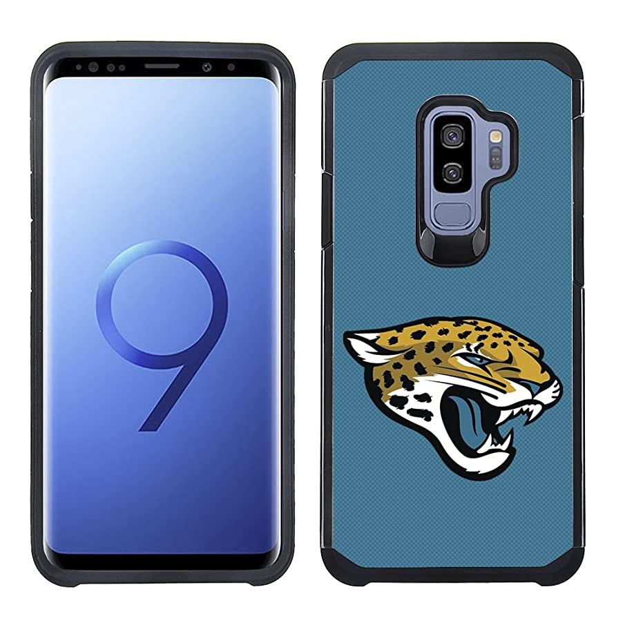 Prime Brands Group Textured Team Color Cell Phone Case for Samsung Galaxy S9 Plus - NFL Licensed Jacksonville Jaguars
