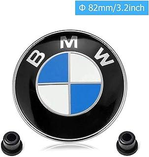 car sales BMW Emblems Hood and Trunk,BMW 82mm Logo Replacement + 2 Grommets for ALL Models BMW E30 E36 E46 E34 E39 E60 E65 E38 X5 X6 3 4 5 6 7 8 (82mm)