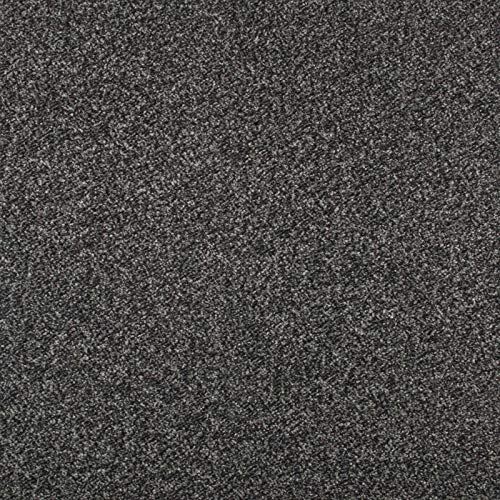 247Floors Budget Saxony Carpet 8mm Flecked Stain Resistant Hard Wearing Feltback (Dark Grey, 2.5m x 4m)