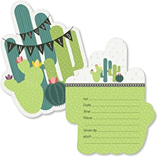 cactus birthday party invitations
