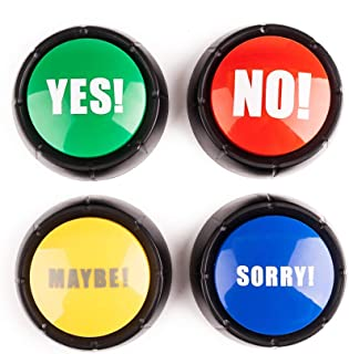 Set of 4 The NO YES SORRY and MAYBE Buttons