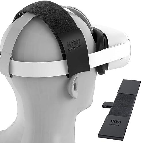 KIWI design Sangle Tête pour Oculus Quest/Quest 2/Oculus Rift Bandeau Serre-Tête Ajustable pour Réduire la Pression d...