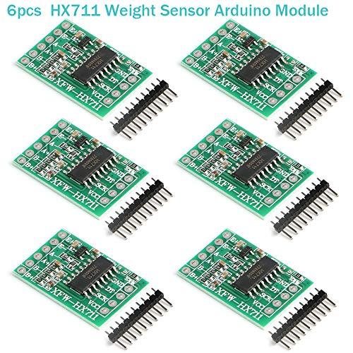 Innovateking-EU 6 Stücke HX711 Wägezelle Gewicht Sensor Modul 24-Bit Präzision AD Modul Dual-Kanal für Arduino Waage