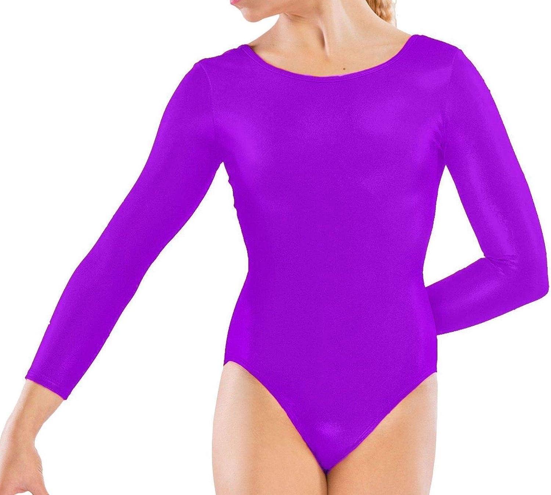 Loxdonz Girls Leotard Basic 5% OFF Long OFFicial mail order Dance Sleeve Ballet Kid