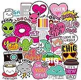 Cute Water Bottles Stickers for VSCO Girls(54 Pack) - Laptops Sticker for Teens Feminist - Aesthetic Trendy Waterproof Vinyl Sticker Pack for Hydro Flask Tumbler Cameras Phone Luggage Graffiti Decal