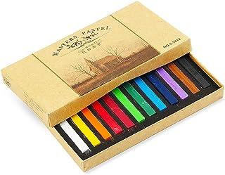أقلام تلوين مؤقتة للشعر بألوان الباستيل غير السامة من أرتيست فيرم، مجموعة ألوان الباستيل الأساسية (12 لونًا)