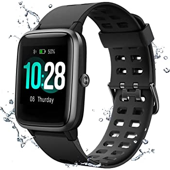 Muzili IP68 Waterproof Fitness Tracker Smartwatch for Swimming with 1.3'' Large Color Full Touch Screen, Heart Rate/Sleep Monitor, Pedometer 8 Sports Modes 10 Days Running Time for Men Women