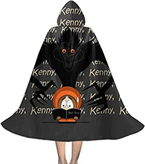 Kenny Kenny Kenny South Park Death Note Unisex Kids Hooded Cloak Cape Halloween Christmas Party Decoration Role Cosplay Costumes Outwear Black
