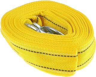 Corda de reboque para carro Homyl de 5 toneladas com 2 ganchos de trava para cinto de nylon de poliéster resistente