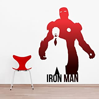 Impression Wall Decor Vinyl Iron Man Wall Sticker, 24.01 x 31.88 x 0.39 Inches, Multicolour