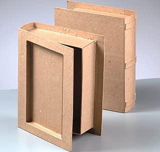 Paper Mache Book Box to Decorate 18x14.5x4.5cm   Papier Mache Boxes