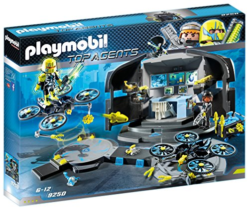 Playmobil 9250 Top Agents Dr. Drone's Command Center, met 2 Figuren en Veel Accessoires