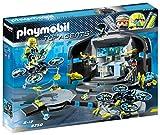 PLAYMOBIL Agentes Secretos- Agentes Secretos-Centro de Mando del Dr.Drone Figuras de Juguete, Color Negro, Gris, Amarillo (9250)