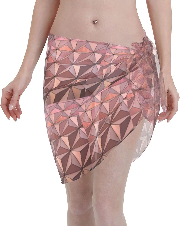 Epcot Architecture Design Women Beach Short Sarongs Cover Ups Beach Swimsuit Wrap Skirt Black