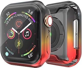ZAALFC Funda de Cubierta Suave de TPU para Apple Watch 6 5 4 SE Reloj Funda de Reloj de 44 mm 40 mm Protector de Pantalla ...