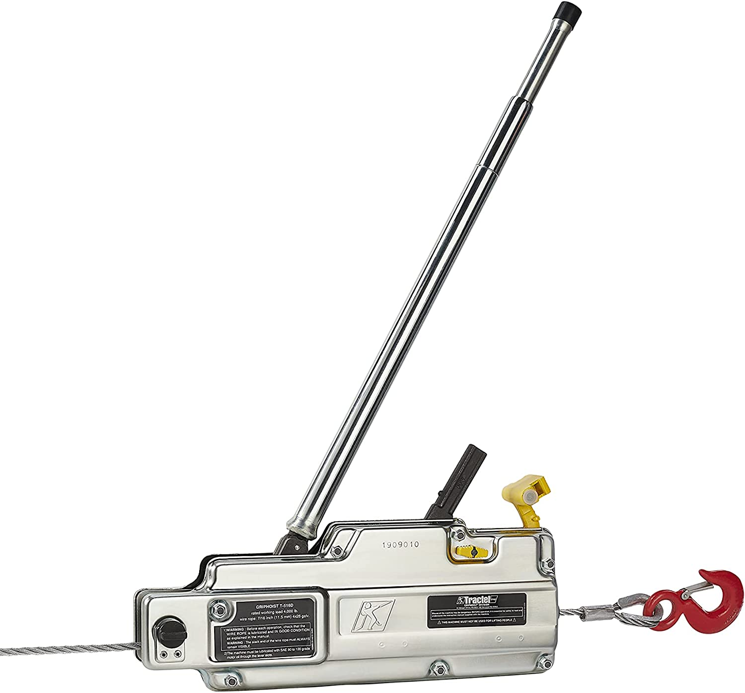 Popular popular T516D griphoist tirfor 2 ton 4000 80 with lbs Hoist Rope Sale item Wire