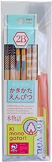 トンボ鉛筆 鉛筆 木物語 かきかた 2B プチギフト 水色柄 KB-KPF01G-2B
