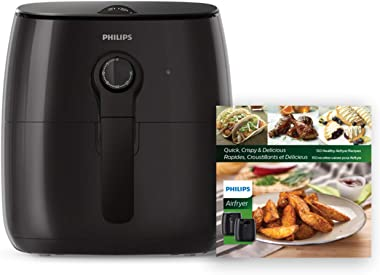 Philips Kitchen Appliances Premium Airfryer with Fat Removal Technology and Bonus Cookbook, Black, HD9721/99, New