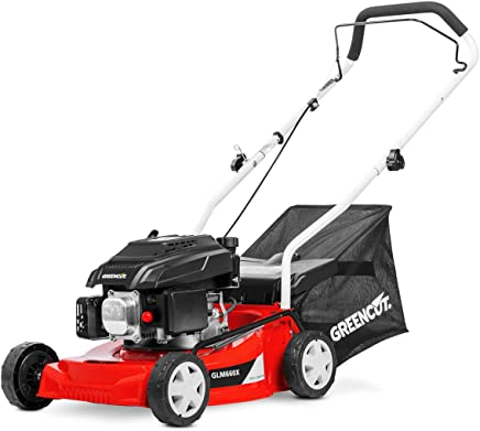 Greencut GLM660SX Cortacésped Tracción Manual, Motor Gasolina, Rojo, 40 cm