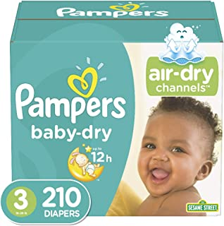 Sponsored Ad - Diapers Size 3, 210 Count - Pampers Baby Dry Disposable Baby Diapers, ONE MONTH SUPPLY