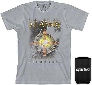 Def Leppard Target Pyromania Men's Gray T-Shirt + Coolie
